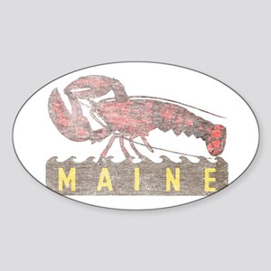 Vintage Maine Lobster Sticker (Oval)