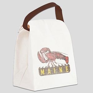 Vintage Maine Lobster Canvas Lunch Bag