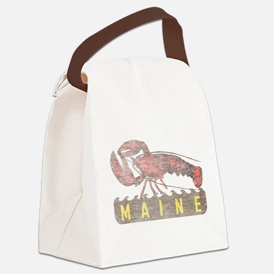 Vintage Maine Lobster Canvas Lunch Bag