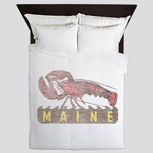 Vintage Maine Lobster Queen Duvet