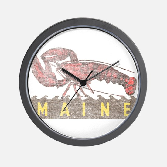 Vintage Maine Lobster Wall Clock