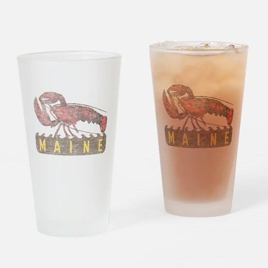 Vintage Maine Lobster Drinking Glass