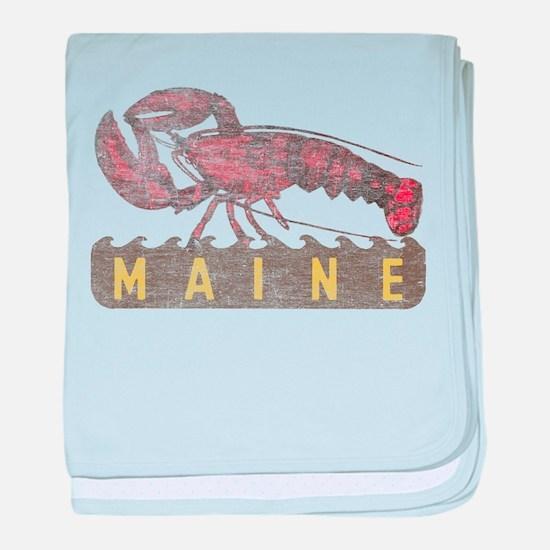 Vintage Maine Lobster baby blanket