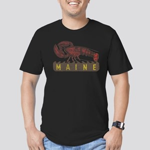 Vintage Maine Lobster Men's Fitted T-Shirt (dark)
