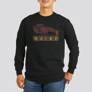 Vintage Maine Lobster Long Sleeve Dark T-Shirt