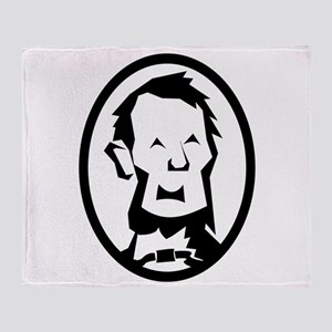 Abraham Lincoln Portrait Throw Blanket
