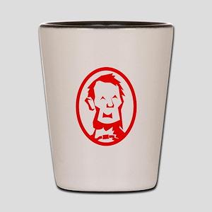 Red Abraham Lincoln Portrait Shot Glass