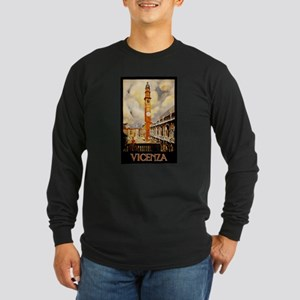 Vintage Vicenza Italy Travel Long Sleeve T-Shirt