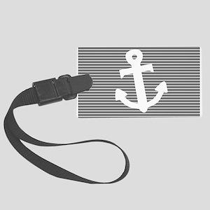 'Gray Anchor' Large Luggage Tag