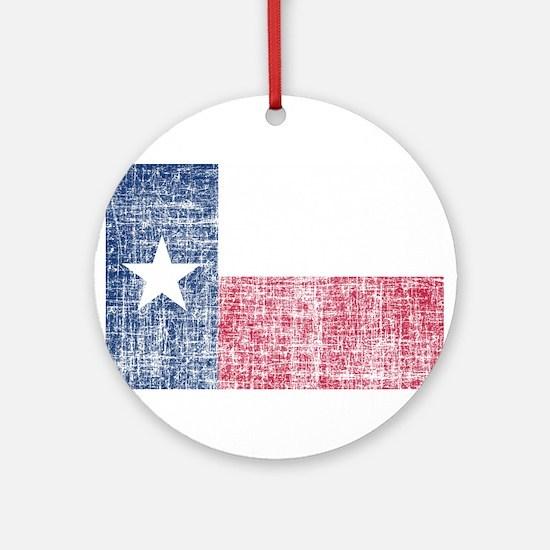 Distressed Texas Flag Ornament (Round)