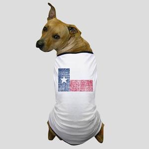 Distressed Texas Flag Dog T-Shirt