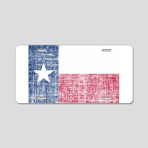 Distressed Texas Flag Aluminum License Plate