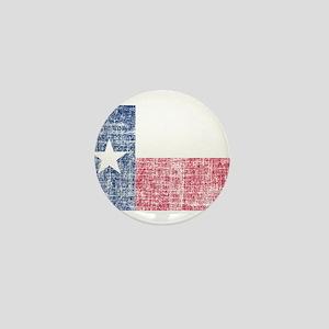 Distressed Texas Flag Mini Button