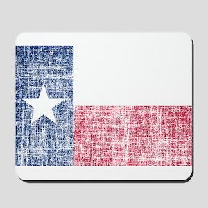 Distressed Texas Flag Mousepad