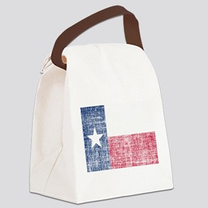 Distressed Texas Flag Canvas Lunch Bag