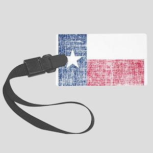 Distressed Texas Flag Luggage Tag