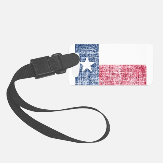 Distressed Texas Flag Luggage Tag