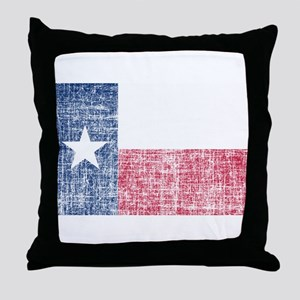 Distressed Texas Flag Throw Pillow