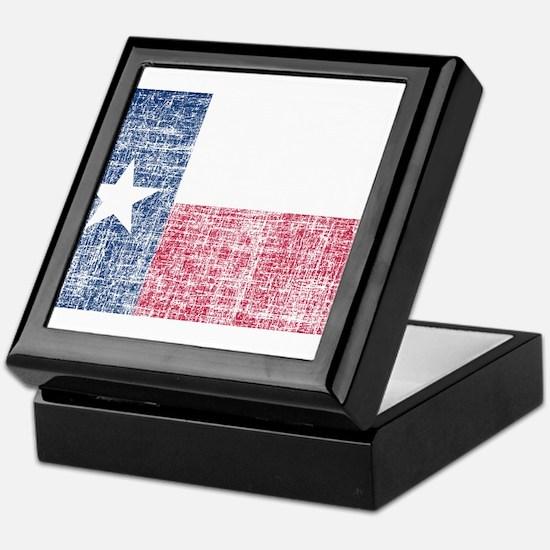 Distressed Texas Flag Keepsake Box
