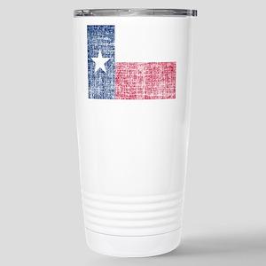 Distressed Texas Flag Travel Mug