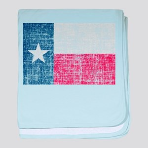 Distressed Texas Flag baby blanket
