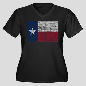 Distressed Texas Flag Plus Size T-Shirt