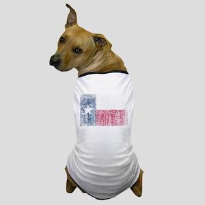 Beaten Texas Flag Dog T-Shirt