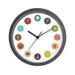 mental vegetables on the wall (clock)