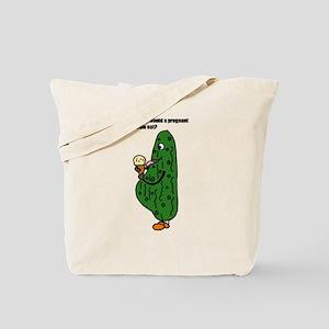 Funny Pregnant Pickle Cartoon Tote Bag