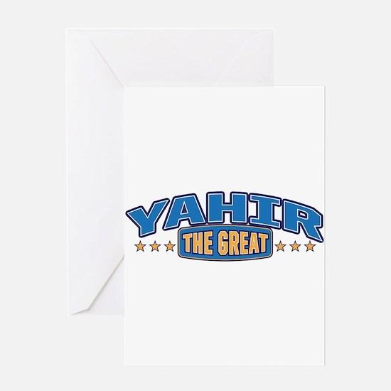 The Great Yahir Greeting Card