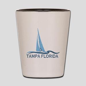 Tampa Florida - Sailing Design. Shot Glass