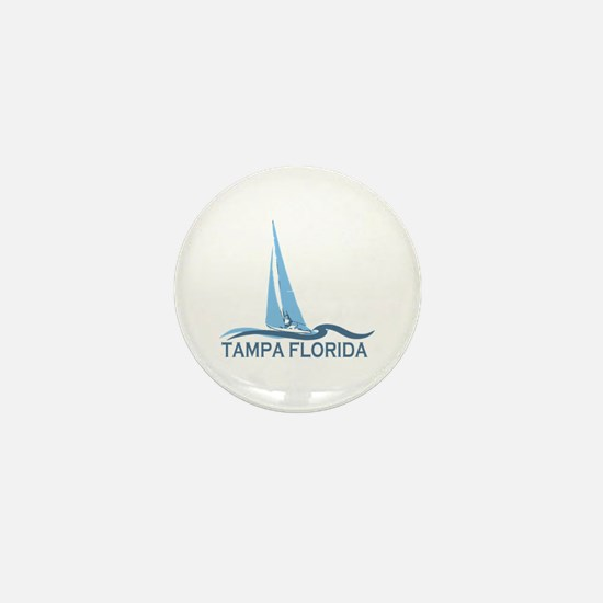 Tampa Florida - Sailing Design. Mini Button