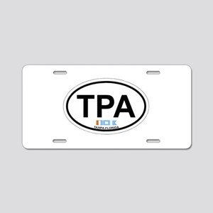 Tampa Florida -Oval Design. Aluminum License Plate