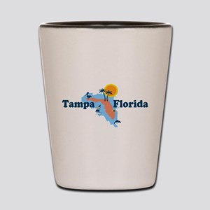 Tampa Florida - Map Design. Shot Glass
