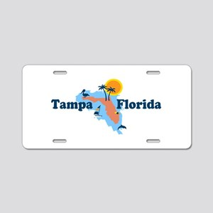 Tampa Florida - Map Design. Aluminum License Plate