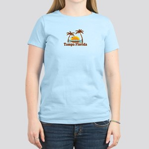 Tampa Florida - Palm Trees Design. Women's Light T