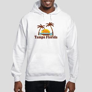 Tampa Florida - Palm Trees Design. Hooded Sweatshi