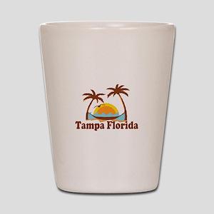 Tampa Florida - Palm Trees Design. Shot Glass