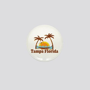 Tampa Florida - Palm Trees Design. Mini Button