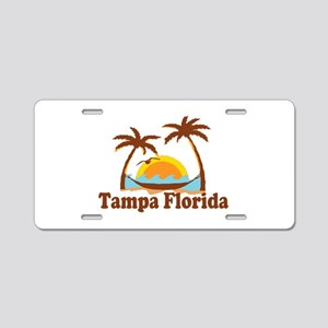 Tampa Florida - Palm Trees Design. Aluminum Licens