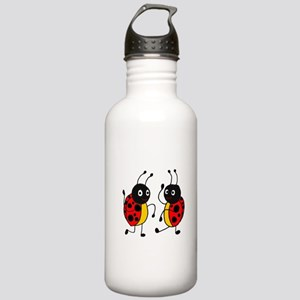 Funny Ladybugs Dancing Water Bottle
