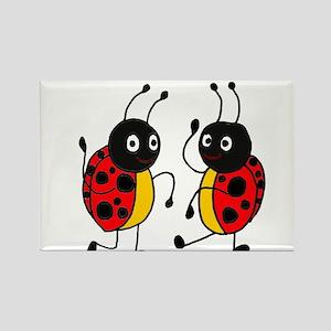 Funny Ladybugs Dancing Rectangle Magnet