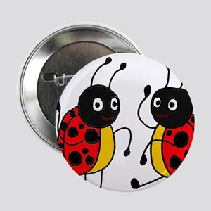 "Funny Ladybugs Dancing 2.25"" Button"