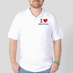 I love Kristian Golf Shirt