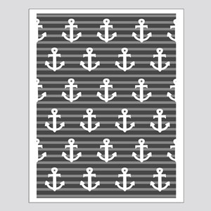 'Gray Anchors' Small Poster
