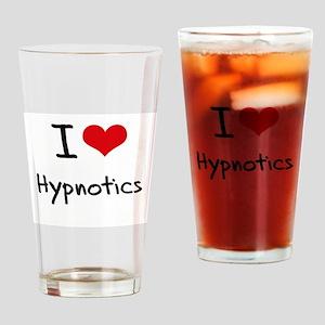 I Love Hypnotics Drinking Glass