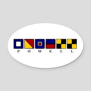 Nautical Oval Car Magnet