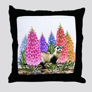 Black Footed Ferret Throw Pillow