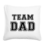 Team Dad Square Canvas Pillow
