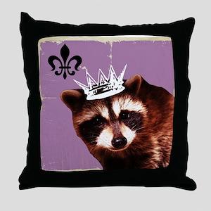 A Trashy Princess Throw Pillow